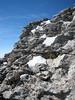 habitat of Saxifraga spruneri, Mytikas 2917m. Mount Olympus