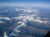 High mountains seen during the flight to Thessaloniki
