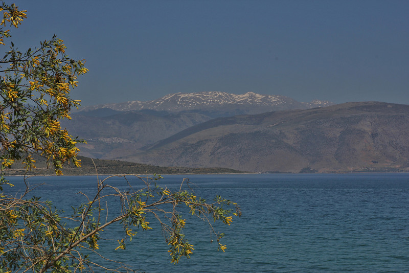 Chelmos mountains at mainland Greece, view from E65