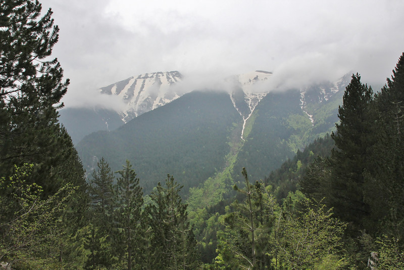 view from Prionia-Refuge A, Mount Olympus (M), Olympus NP