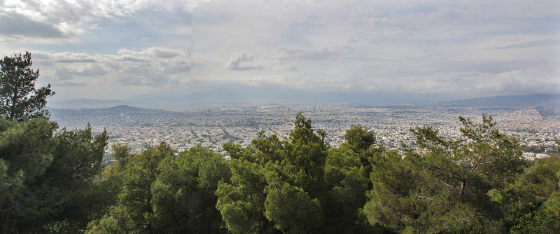 view at Athens, Mount Imittos 1026m, N of Athens