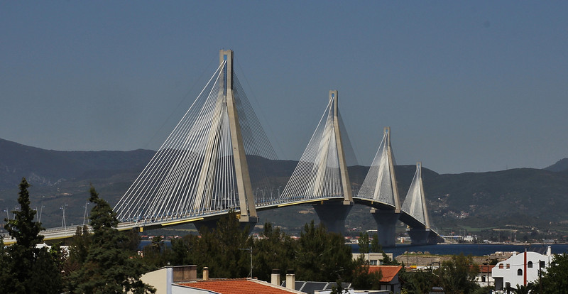 Bridge Peloponnese-mainland Greece near Patra