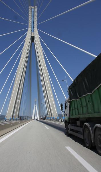 Bridge Peloponnese-mainland Greece near Patra
