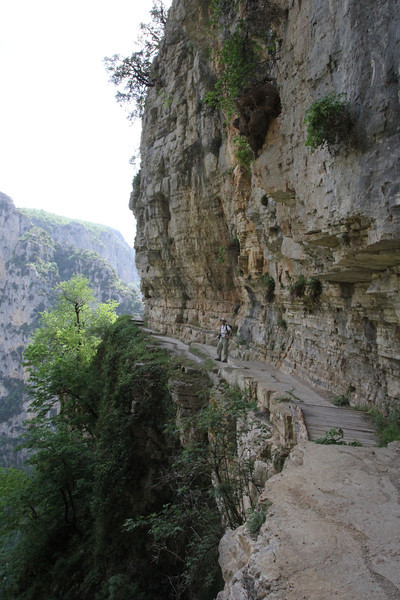 Vikos balcony, 1350m , Vikos Gorge, near the Monastery of Monondendri