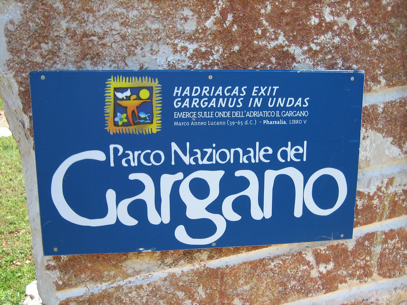 sign National Parc Gargano