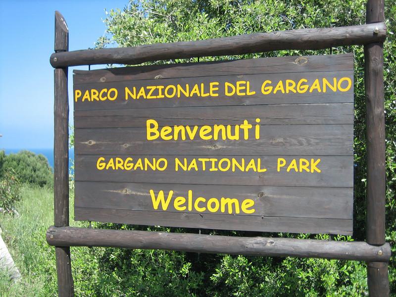 Sign (Gargano National Park)