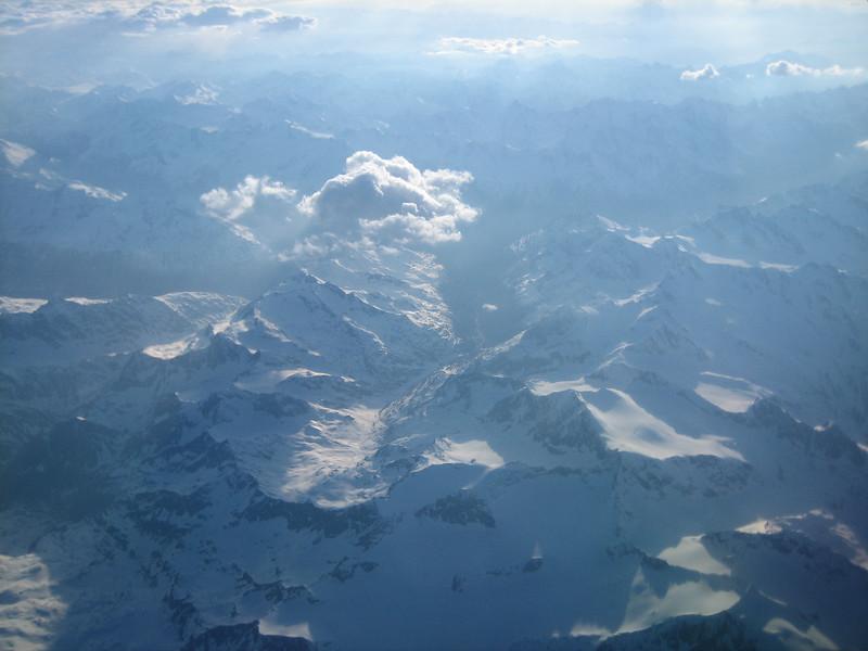 view over the Alps (backflight Napels - Dusseldorf)