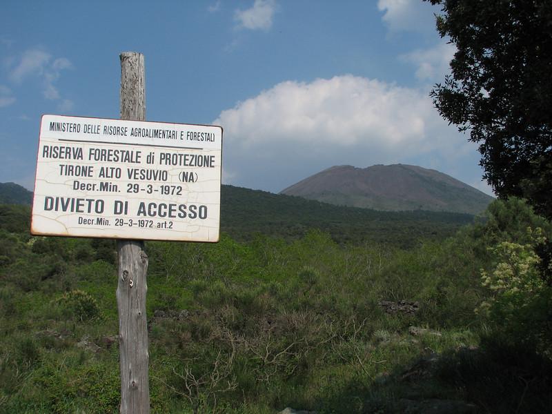 sign Parco nazionale del Vesuvio (near Napels Southwest Italy)