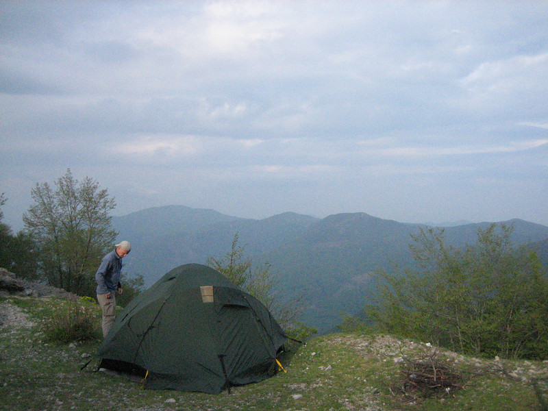 Campground on Monte Sant Angelo (near Napels)