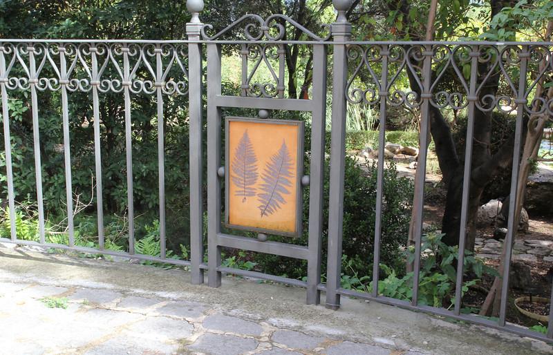 Iron works, Gardi Botanice de Sóller, <br /> Photos of the Botanic garden, see gallery:  ROCK GARDEN / OTHER GARDENS on this site.