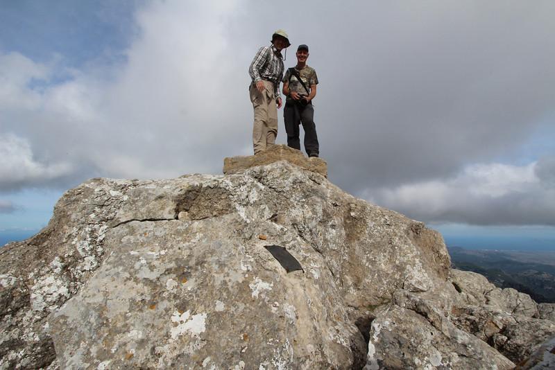 Kees Jan and Marijn on the summit of Masanella 1365m
