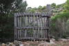 Wooden gate, Island, Parc Naturel de sa Dragonera, Liedó-des Liebeig