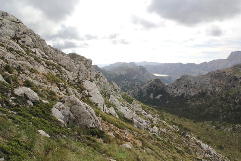 Landscape, limestone, Masanella 1365m - GR 221 - Prat de Cúber 650m