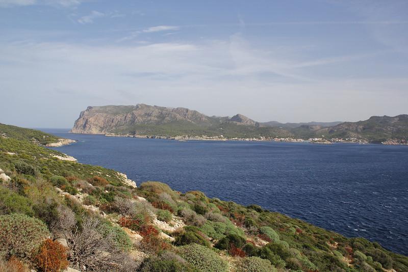near Cap Llebeitx, Island, sa Dragonera, in the background Mallorca