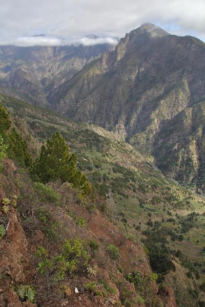 View at Barranco de las Angustia, Torre del Time, S of Hoya Grande 1387m