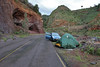 Camp along the road in Las Nieves, near Santa Cruz de La Palma