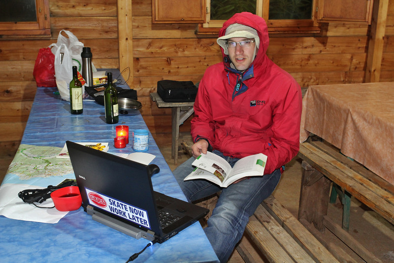 New Year's Eve, making the species-list, under cold conditions :-( Camp Los Rosas 960m, Puntagorda