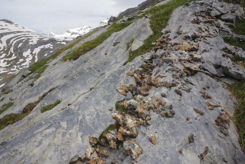 Limstone rock and flint