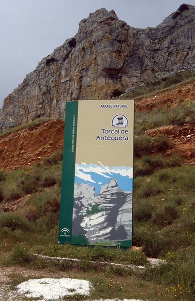 sign Torcal de Antequera, Andalusica