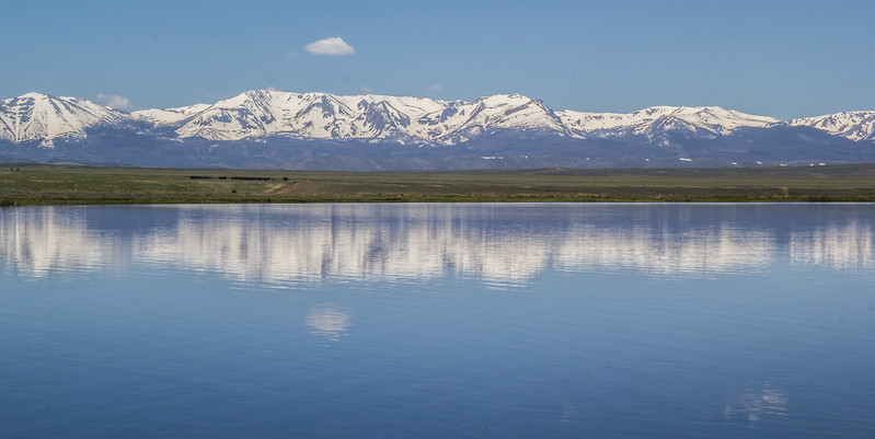Cowdrey Lake with Rocky Mountains