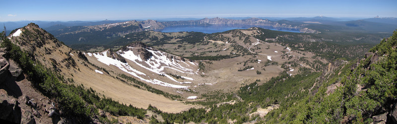 panorama view from Mount Scot 2721m, highest point in Crater Lake National Park