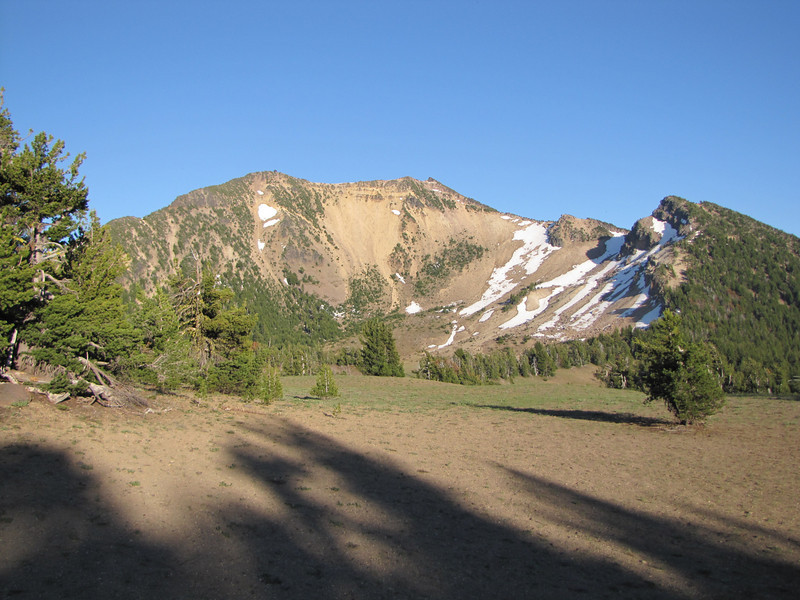 Mount Scott 2721m, highest point in Crater Lake Park (South side)