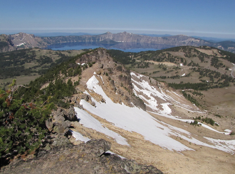 view from Mount Scot 2721m, highest point in Crater Lake National Park