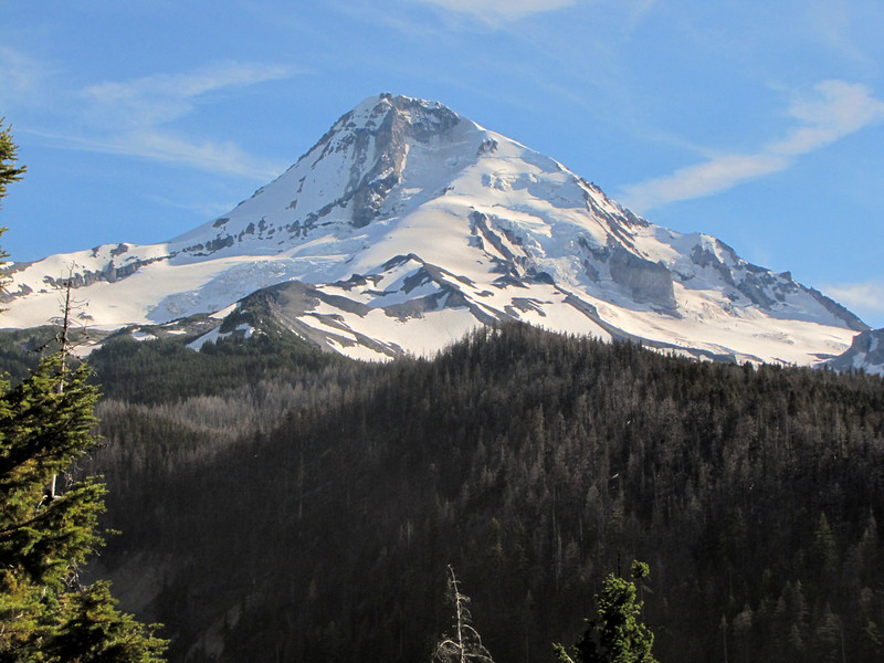 view from the road to Cloud Cap Campgroud, in the background Mt. Hood 3426m