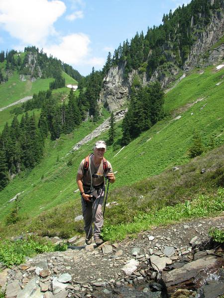 Marijn van den Brink (between Hidden Lake Trailhead and Hidden Lake, North Cascades National Park, Washington)