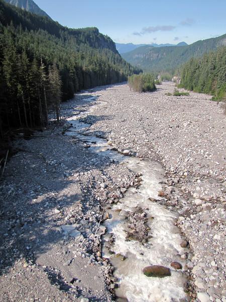 Nisqually River near its source (photographed from bridge along Route 76, Mount Rainier National Park, Washington)