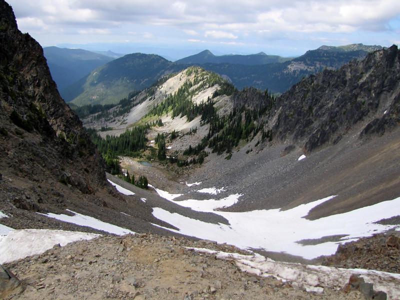 Northfacing slope under Sunrise Ridge, Sunrise, Mount Rainier National Park, Washington