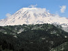 panorama view of Mount Rainier National Park with Mount Rainier 4342m