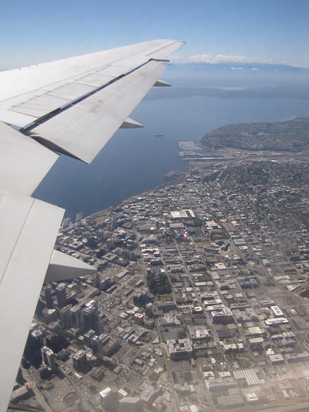 Seattle, Washington, USA. Flight KL6023 A'dam - Seattle, with Kees Jan van Zwienen