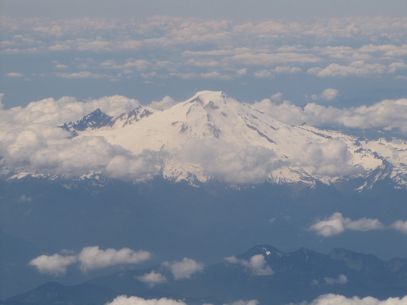 Mount Baker 3286m, Washington, Flight KL6023 A'dam - Seattle
