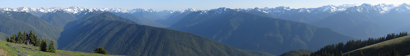 panorama view Olympic Mountains
