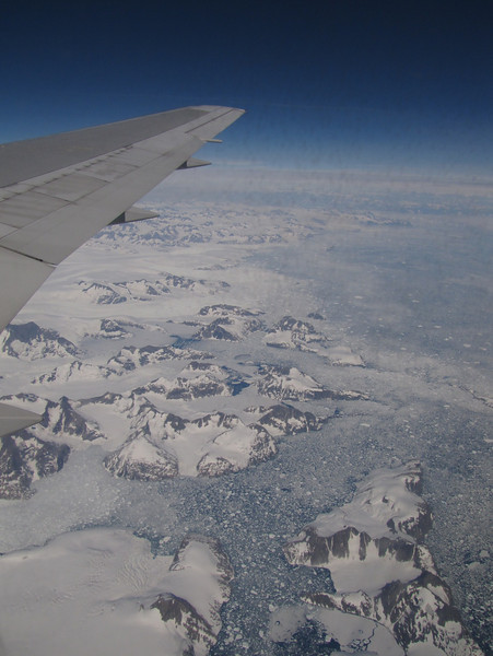 Greenland, Flight KL6023 A'dam - Seattle