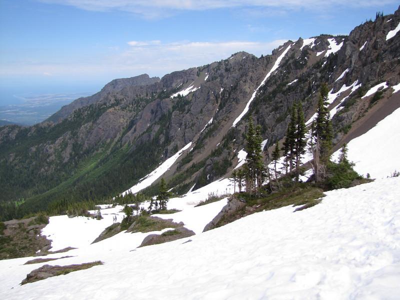 view at Klahane Ridge (Switchback Trail, Olympic Mountains)