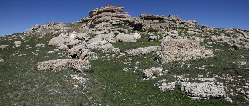 Lime stone rocks