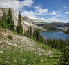 Medicine Bow Mountains with Lake Marie