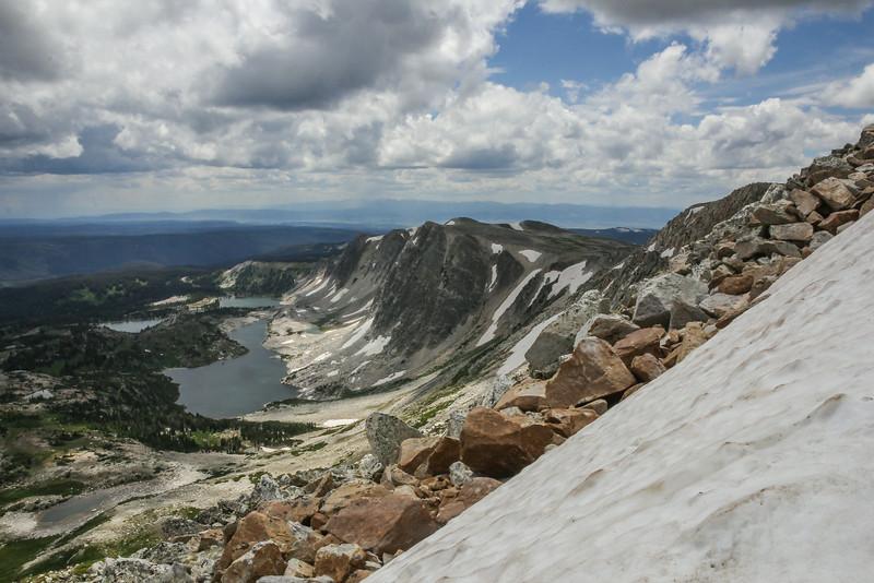 Desending Medicine Bow Peak 3662m