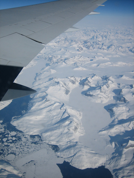 aerial view Greenland