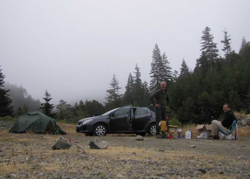 camp near South Fork Road, West of Jedidiah Smith State Park