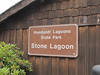 sign of Humboldt Lagoon State Park, CA