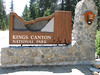 Entrance Kings Canyon National Park (Siera Nevada California)