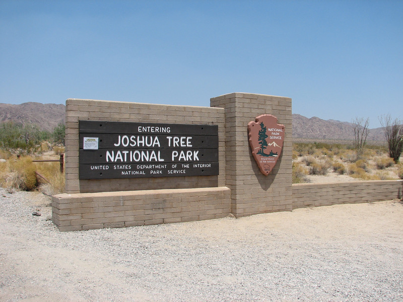Entrance Joshua Tree National Park