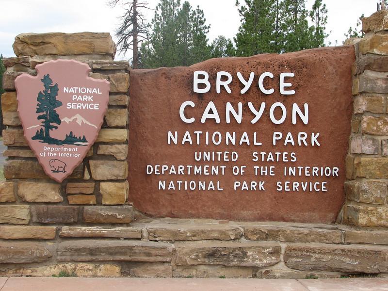 Entrance Nat. Park Bryce Canyon (Utah)