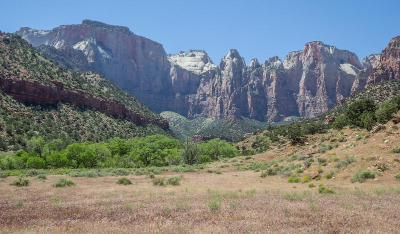 Navajo sandstone and limestone rocks