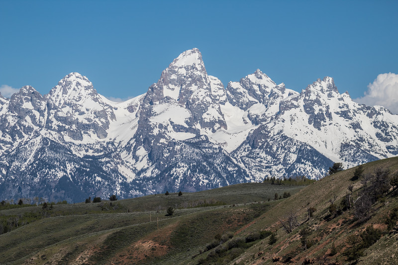South-Middle-and Grand Teton 4197m ,Mount Owen and  Teewinot Mountain