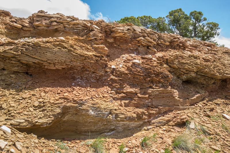 broken rock layers