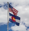 Flags, USA and Colorado